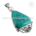 Latest designer pendant handmade 925 sterling silver multi gemstone jewelry online