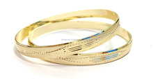 6 MM Micron Finish Gold Plated Artificial Bangles
