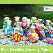 SOLNARA Pine Needle Aroma Hanging Air Freshener for Home and Car Color Type with Phytoncide and Deep Sea Water Made in Korea