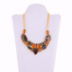Wholesale Turquoise And Citrine Gemstone Fashionable Choker 925 Silver Necklace