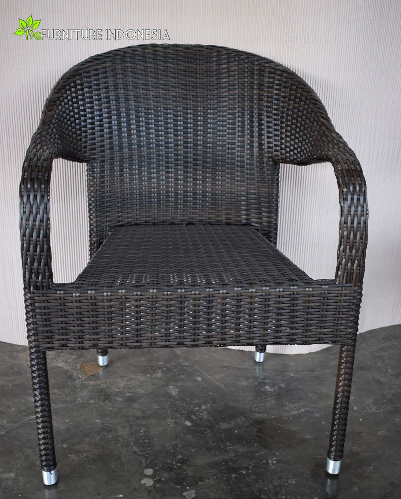 Outdoor aluminium wicker rattan synthetic chair furniture jepara