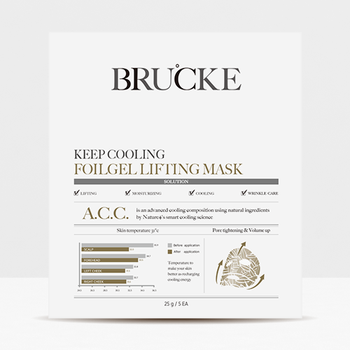 Brucke Keep Cooling Foilgel Lifting Mask, Korean face mask, Mask Sheet, Skin Care, Facial Mask Sheet, Korea Face Sheet Mask