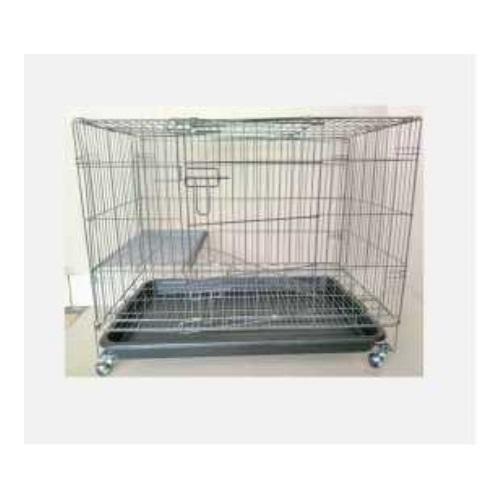 Portable Cat Cage with 4 Wheels