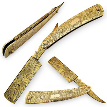 Damascus steel Straight Razors Beauty Care tools Salon instruments 5509