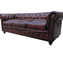 chesterfield Genuine leather Sofa_3_Seater leather sofa design