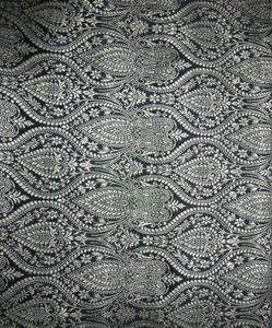 100% Silk Brocade White colour Fabric Genuine Quality