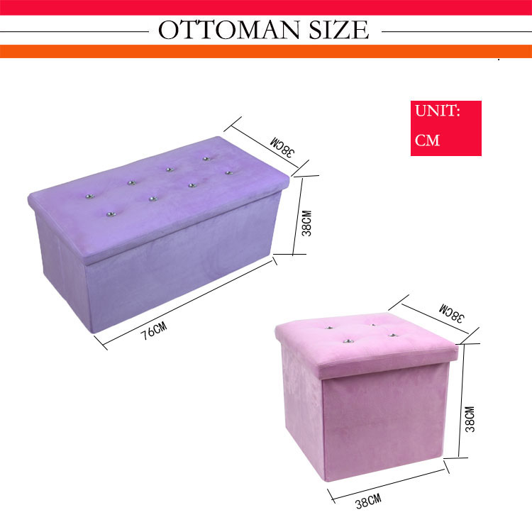 2018 collapsible ottoman bench with storage