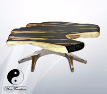 Coffee table fossil and petrified look hand painted Black Diamond