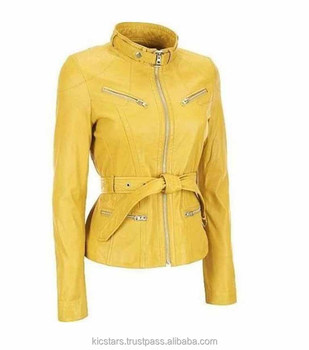 Yellow Casual Style Ladies Jackets