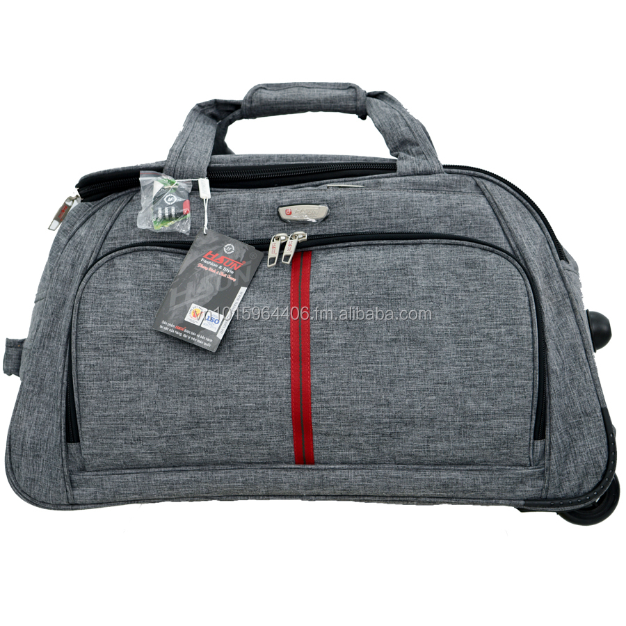 "Trolley Bag Luggage 22"" 8 Pocket Wheeling Duffel Bag From Vietnam"