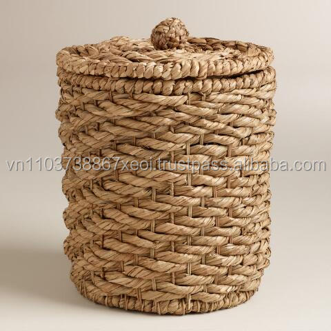 BIG WATER HYACINTH STORAGE BASKET/ SUPERMARKET