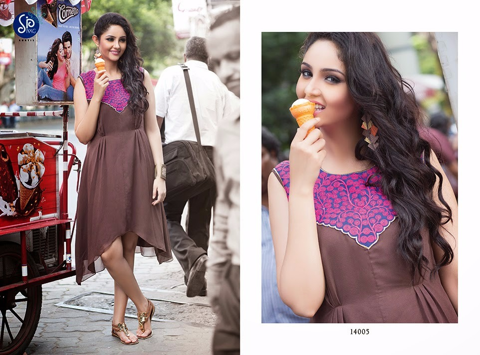 DESIGNER PARTY WEAR L SIZE STITCHED KURTI