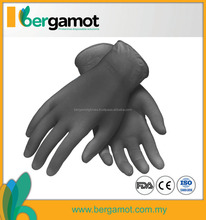 Automotive/Industrial Black Nitrile Powder Free Examination Gloves Malaysia