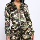 Wholesale women fitness sports camo track suits ladies jogging suits camo fabric women's 2 piece newest track suits