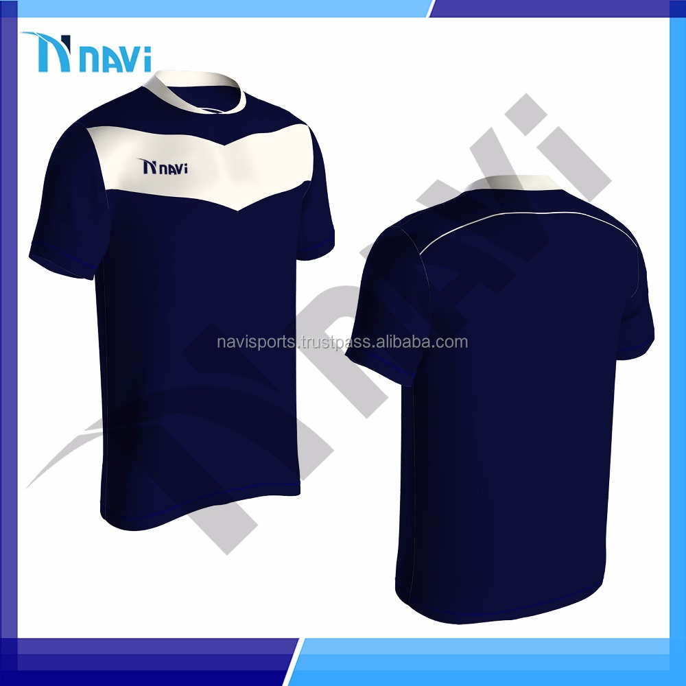 Newest plain sports team wear customized soccer jersey 100% polyester