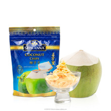 Coconut Chips Snacks100% Real Natural Fruit from Sriwanna Thailand Best selling