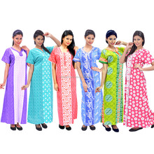 pictures of women in printed nighty
