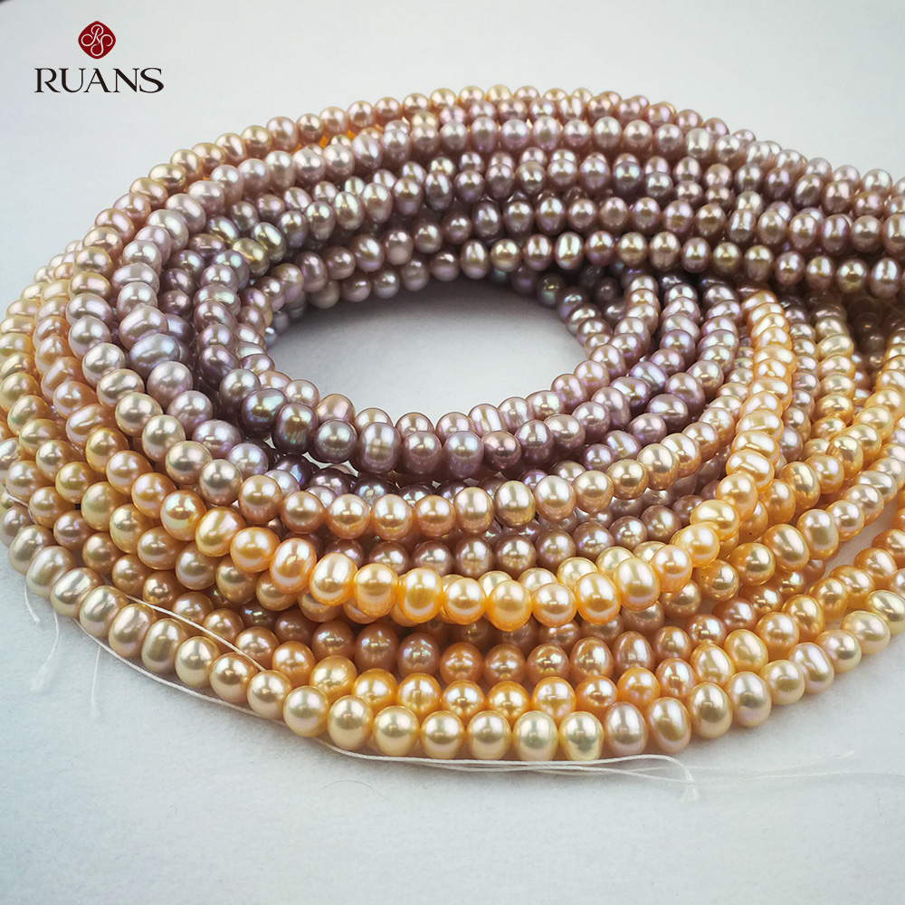 5.5-6 mm AA2 Freshwater Cultured Pearl Natural Strands