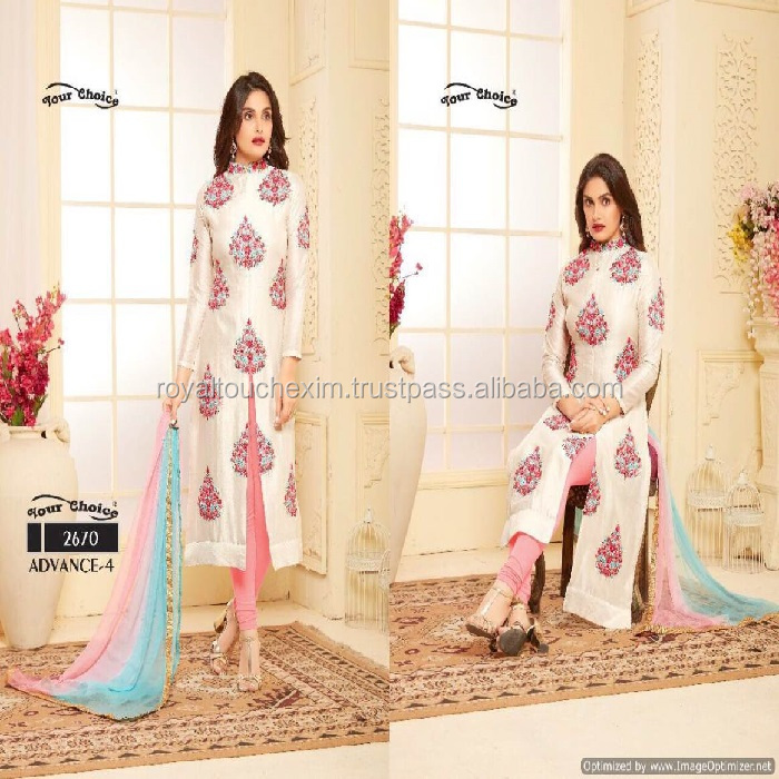 glace cotton pakistani churidar neck hand designs salwar kameez