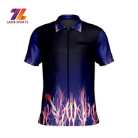 Top Quality Sports No moq 100% polyester sublimation printing team logo design darts jersey By Lazib Sports