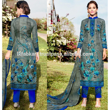 Wholesale Simple Printed Cambric Lawn Daily Wear Straight Salwar Kameez