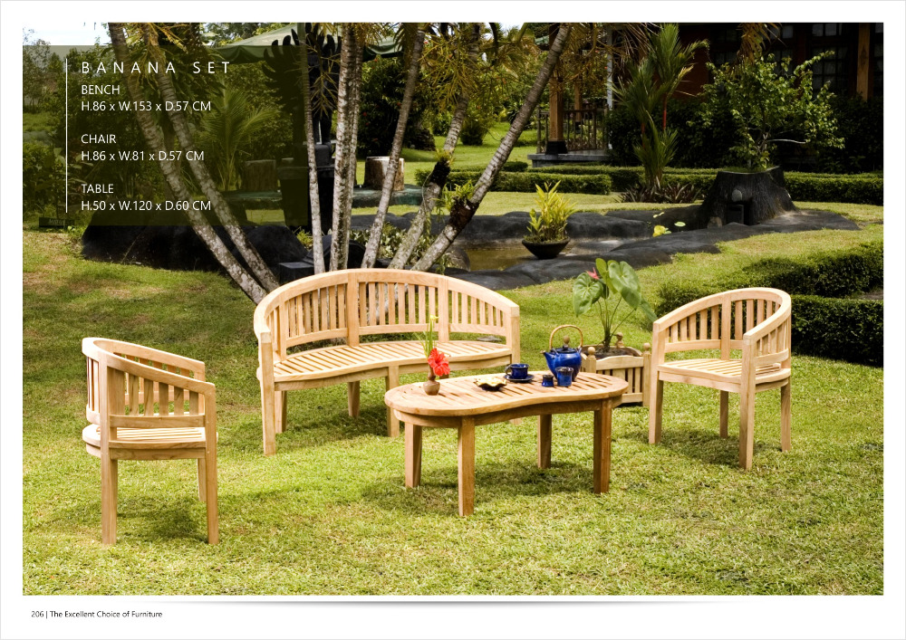 Banana Benches Set