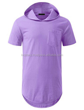 OEM blank desig and t-shirts product type blank hooded t shirts short sleeves hooded 100% cotton t shirt