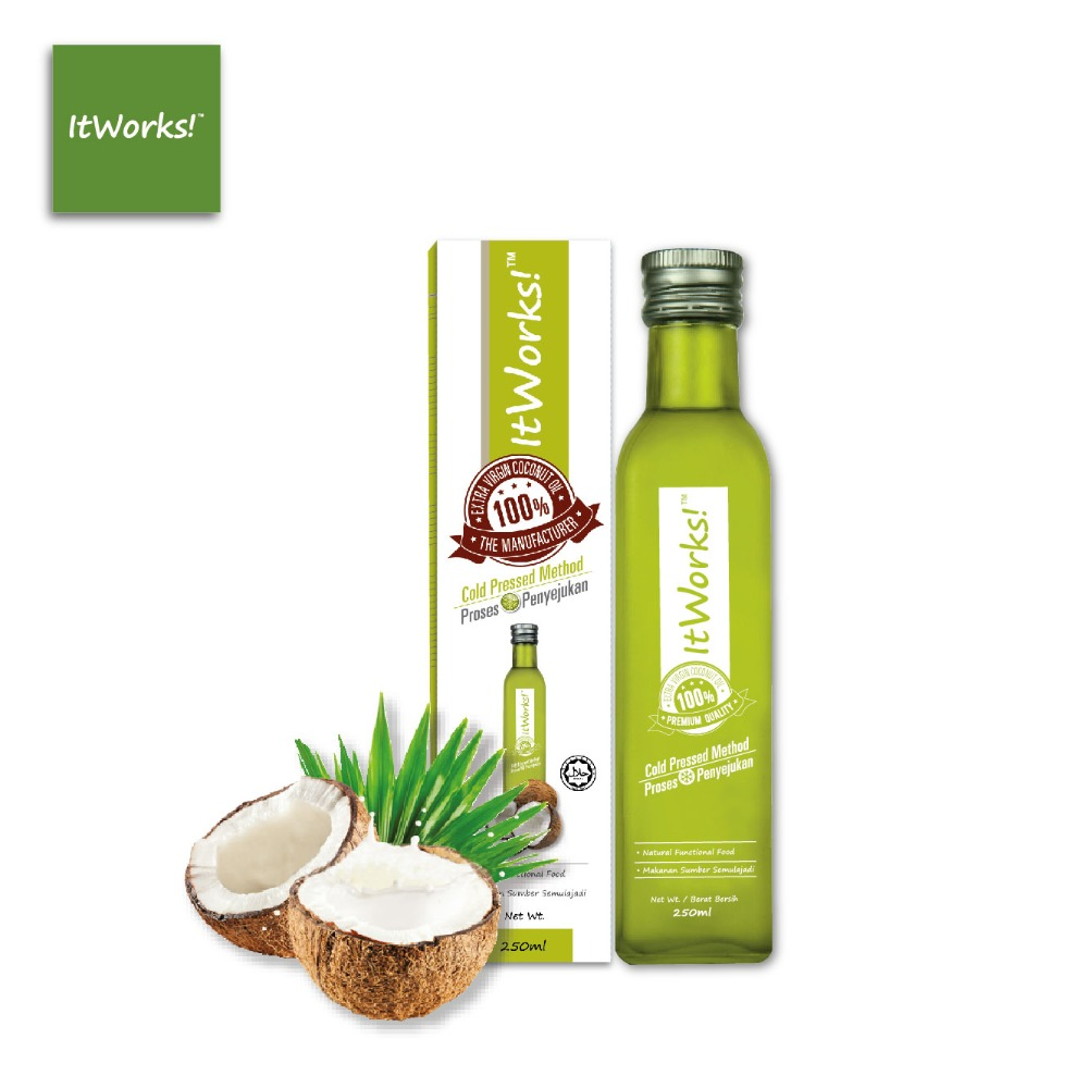 100% Premium Grade Halal Cold Pressed Extra Virgin Coconut Oil