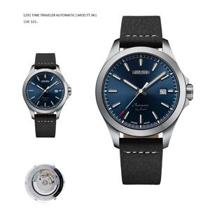 1291 Swiss Made Automatic Wrist Watch Time Traveler ETA 2824-2