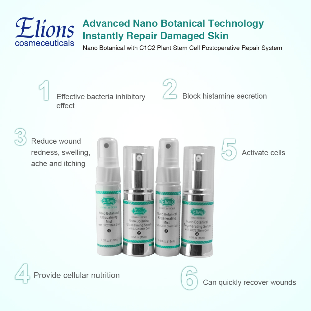 fast repair nano botanical recovery system plant stem cell serum