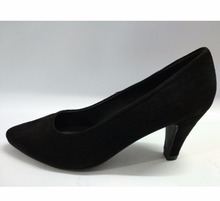 WOMEN'S BLACK STYLISH HEEL COURT SHOE ON NEOLITE SOLE