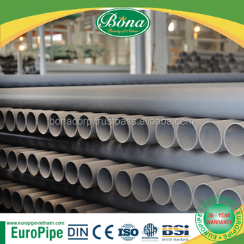 [Europipe] Best price and high quality D200 PN12.5 PVC pipe
