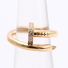 Used designer Brand CARTIER K18 Diamond and Gold Ring - For store / shop owner
