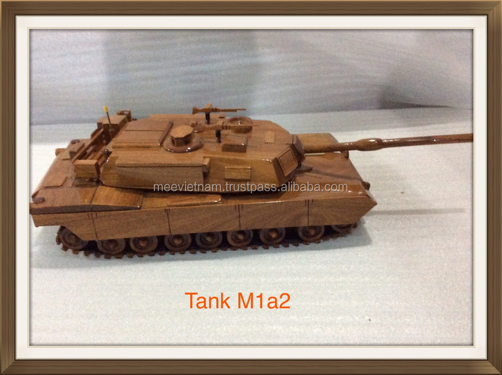 M1A2 WOODEN TANK MODEL, UNIQUE CRAFT OF VIETNAM - HANDICRAFT PRODUCT FOR HOME DECORATION