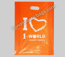 100% color print orange die cut plastic bags