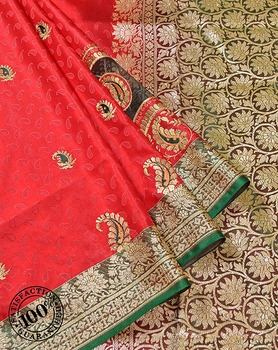 Indian Saree Low Prices Latest Designer Sarees Wholesalers in Varanasi Banarasi Silk Festival Wear Zari Work Saree