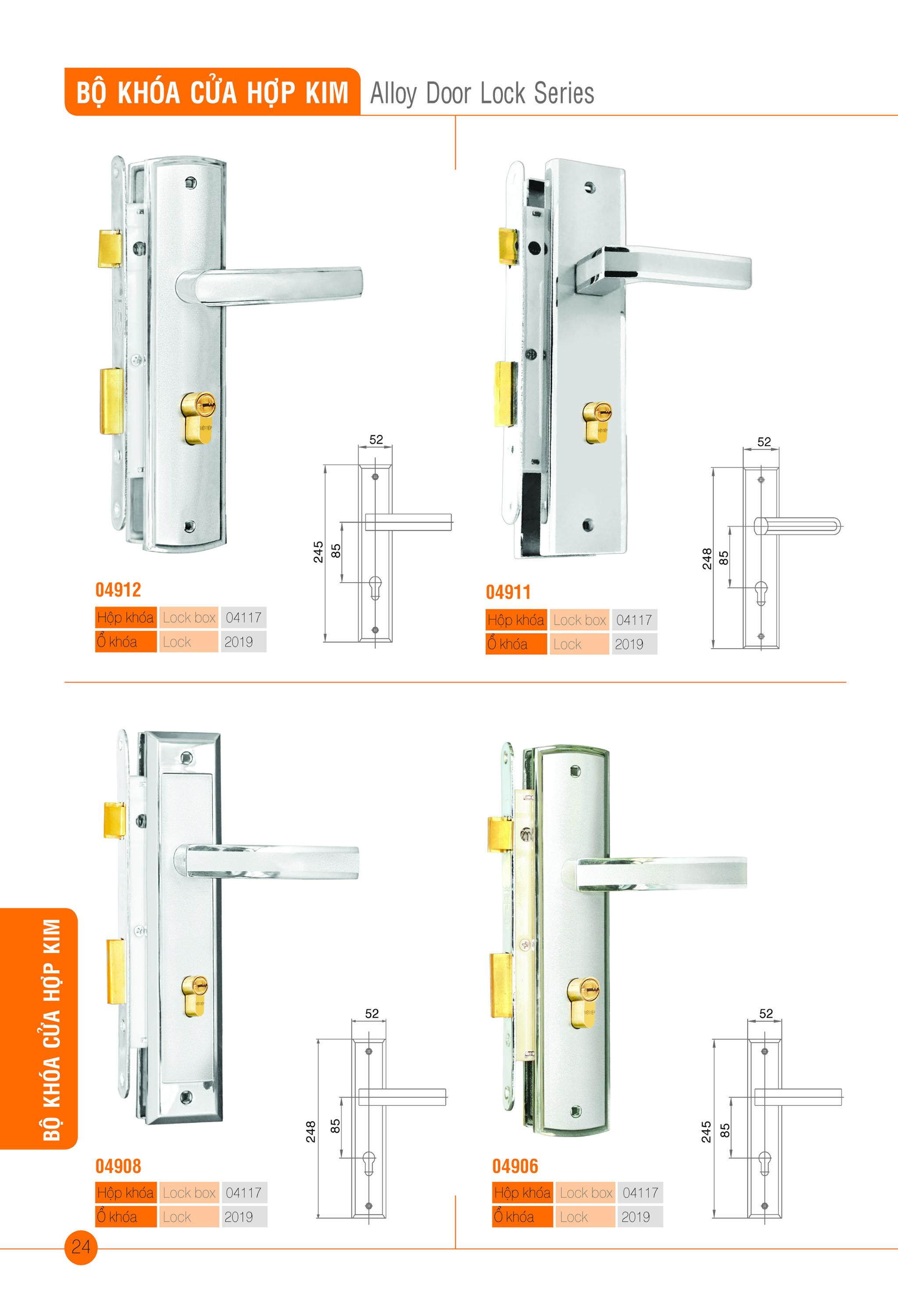 Alloy Door Lock Series (lock box 04117)