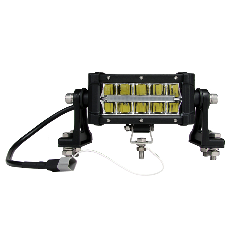 Offroad 30w 4 colors indicate 7inch led light bar