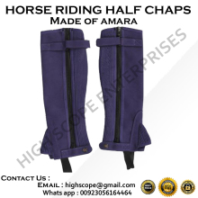 Professional Amara Suede Half Chaps / Horse Riding Half Chaps Color Purple