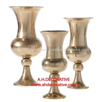 Light Gold Troy Urn For Decor