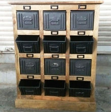 industrial mango wood furniture filling cabinet