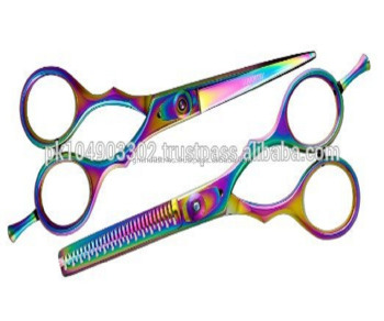 Professional Color Coated Razor Edged Hair Cutting scissors solingen Germany quality scissors