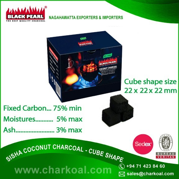 Worldwide Manufacturer of Cube Shape Coconut Charcoal/ Hookah Shisha