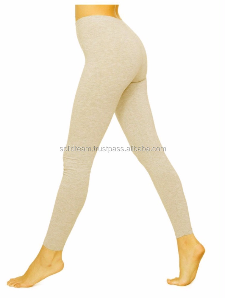 light color leggings cotton and spandex blended fabrics for adults