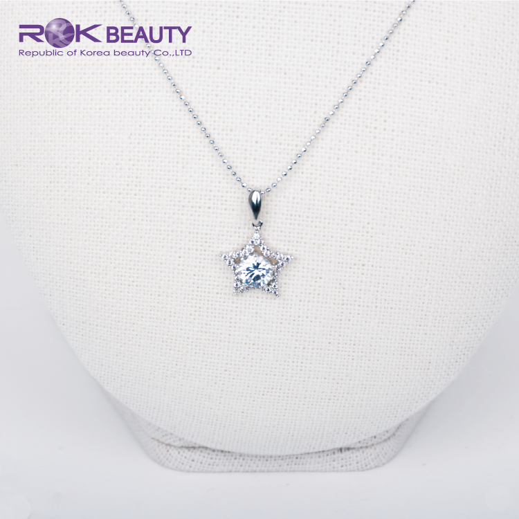OTN 1-12 ROK KOREA WHITE GOLD PLATING WOMEN NECKLACE JEWELRY