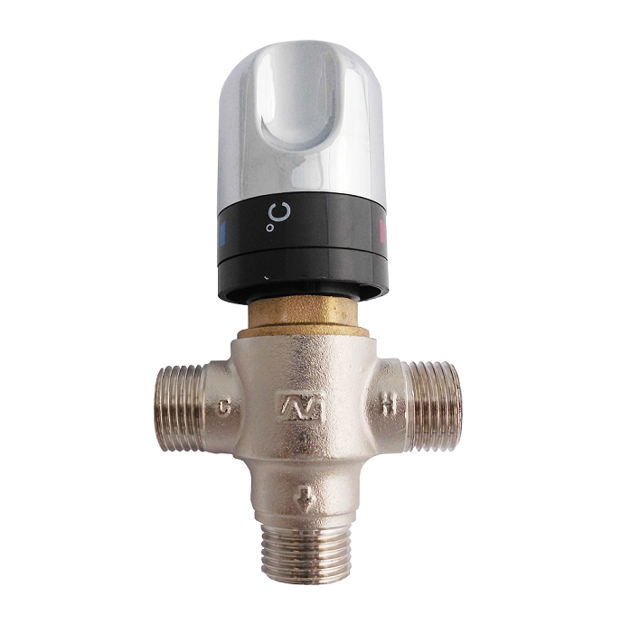 "Alibaba China Supplier Brass 1/2"" DN15M-2 Solar Energy Thermostatic Mixing Valve"