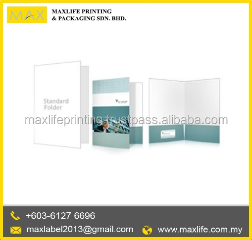 Best Quality File Plastic Folder Printing Design