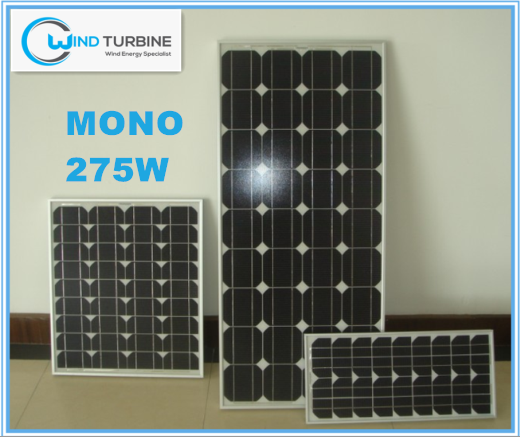 Windturbine Mono 275W solar panels warranty 25 years for home use for solar system