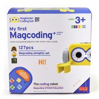 Smart Magcoding Set - Magcoding the Coding Robot Almighty Set 127pcs : Educational Toy Building Block
