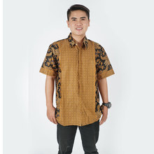 Traditional Indonesian Batik A shirt Short Sleeves For Men made In Indonesia